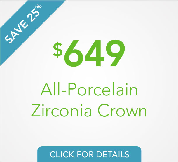 Porcelain Zirconia Crowns Offer